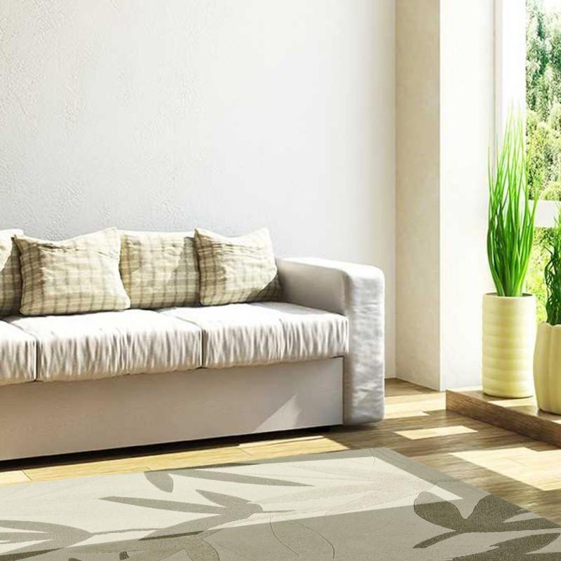 Carpet moderno Foglie Natalia Pepe (-35%) cream cm.160x240 di SITAP