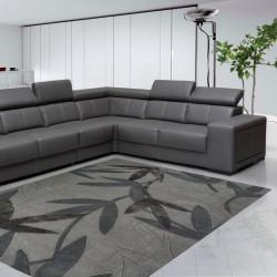 Carpet moderno Foglie Natalia Pepe (-35%) grey cm.160x240 di SITAP