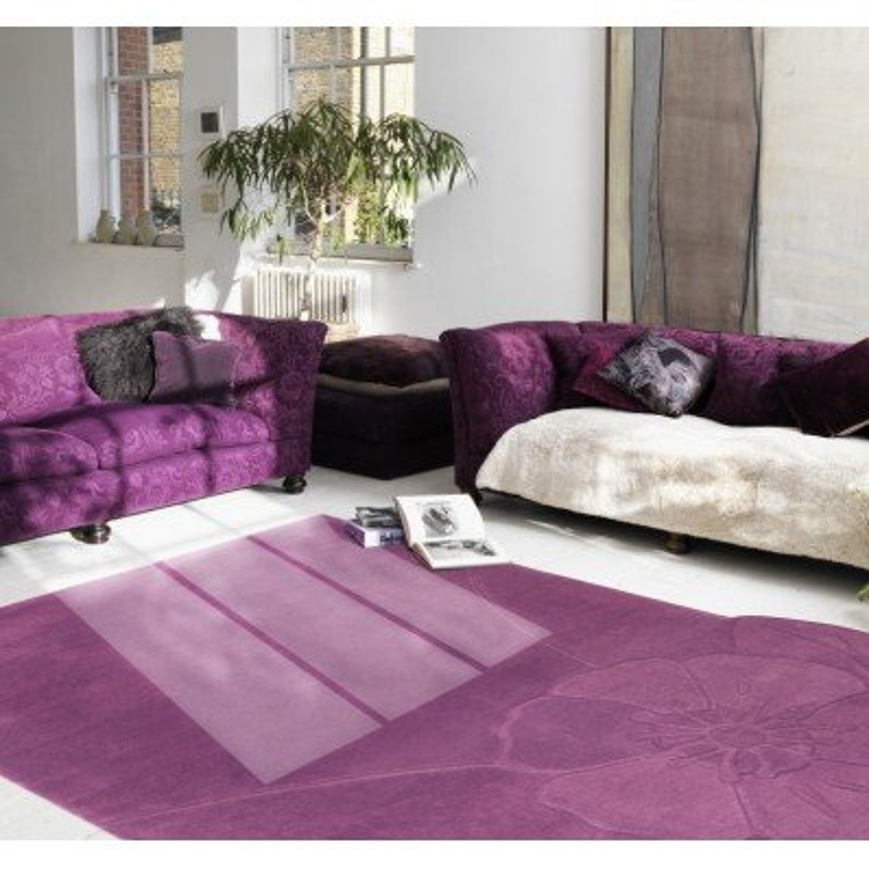 Tappeto moderno Chic 66 Natalia Pepe (-35%) purple cm.216x317 di SITAP