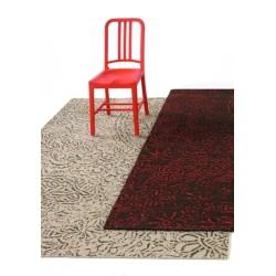Carpet Antique Nanimarquina red and black