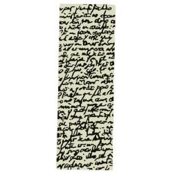 Carpet Manuscript Nanimarquina black on white passatoia