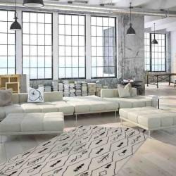 tappeto moderno geometrico algeria constantine avorio