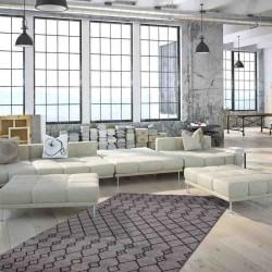 tappeto moderno geometrico algeria oran argento