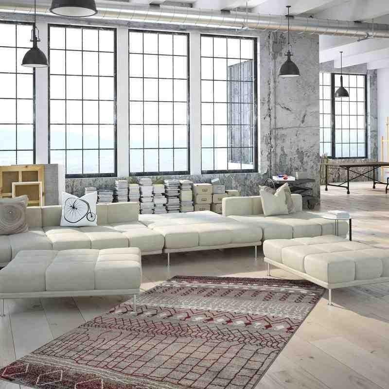 tappeto moderno geometrico algeria algiers rosso