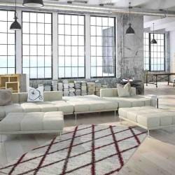 tappeto moderno geometrico algeria tiaret rosso