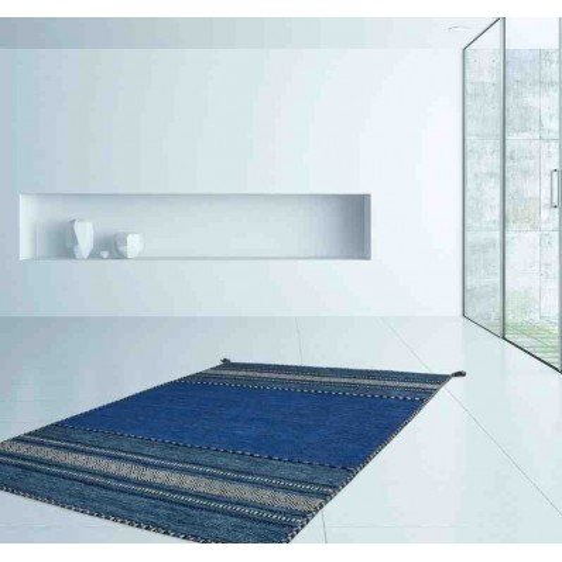 tappeto moderno geometrico alhambra 335 blu