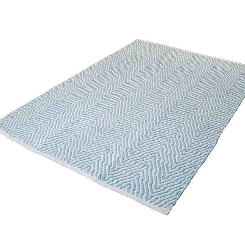 tappeto moderno tinta unita aperitif 410 turchese