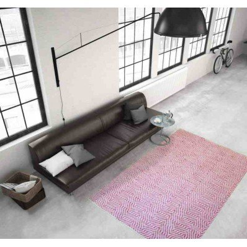 tappeto moderno tinta unita aperitif 410 rosa