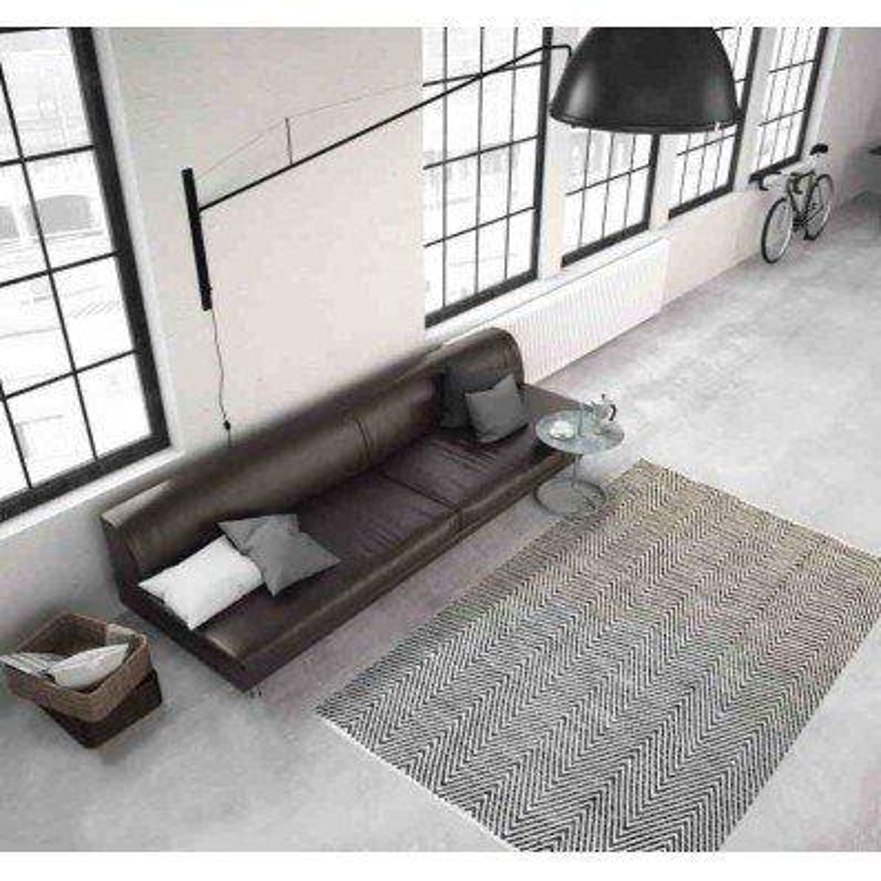 tappeto moderno tinta unita aperitif 510 grigio