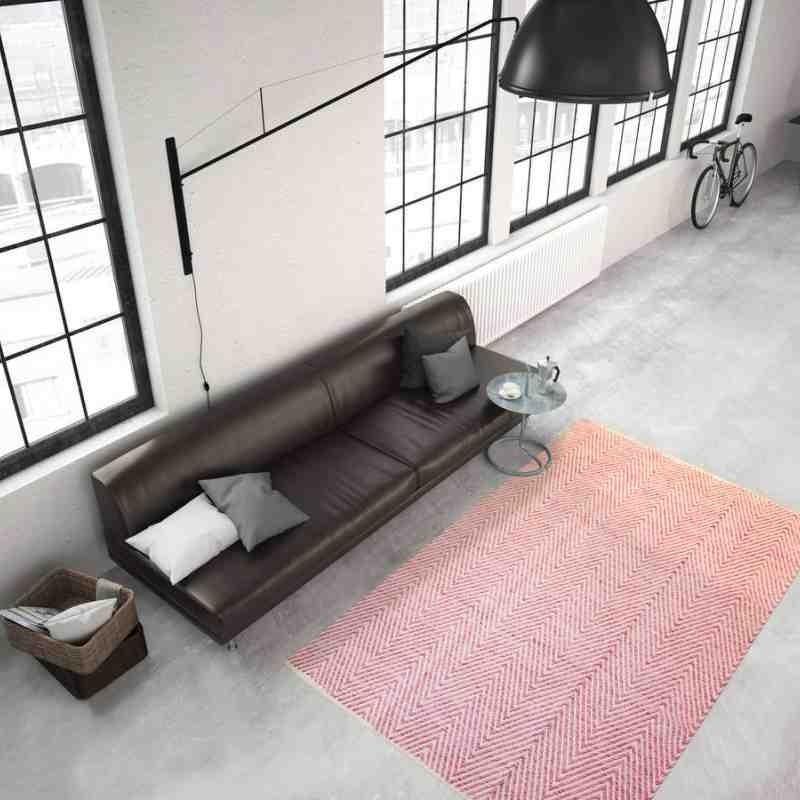 tappeto moderno tinta unita aperitif 510 rosa