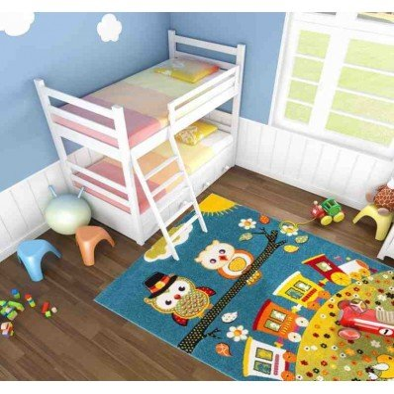 tappeto moderno bambini australia cairns blu