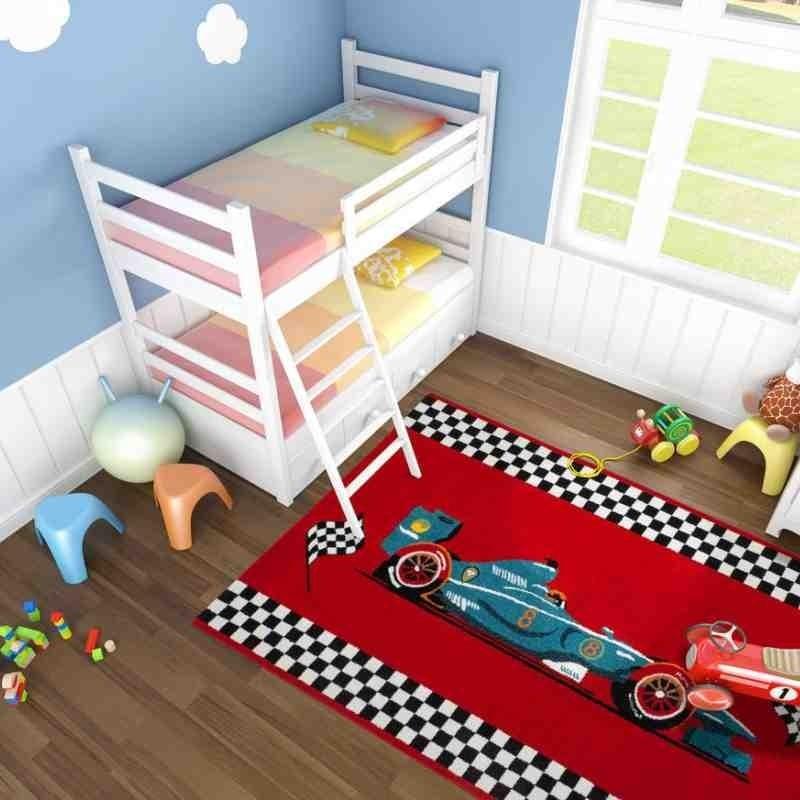 tappeto moderno bambini australia albany rosso