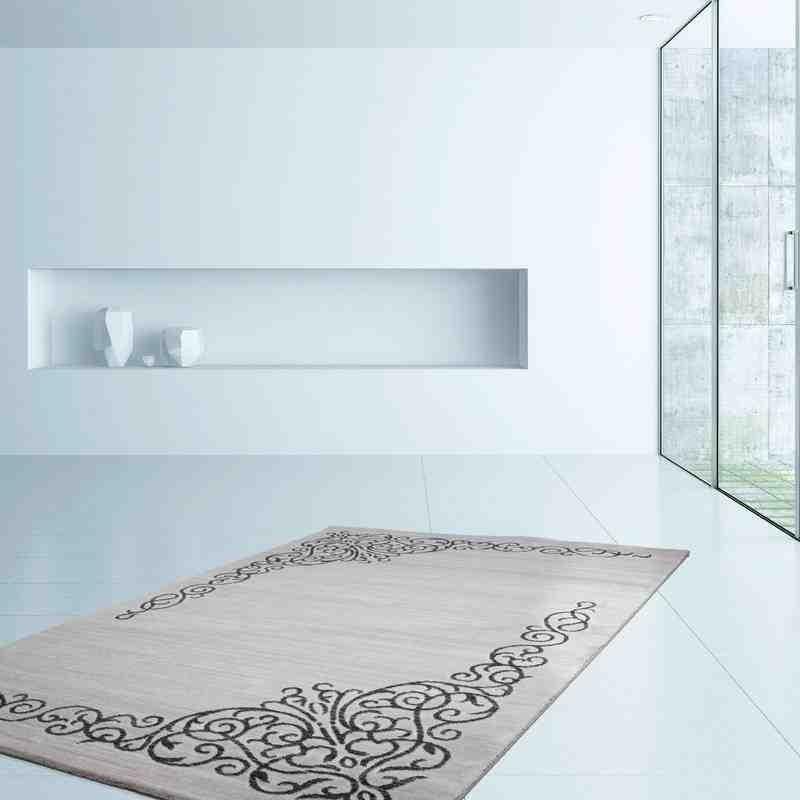tappeto moderno geometrico austria leoben argento