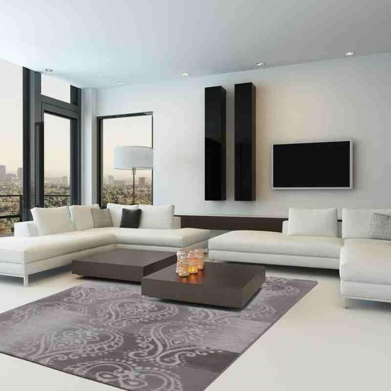 tappeto moderno geometrico austria wels argento
