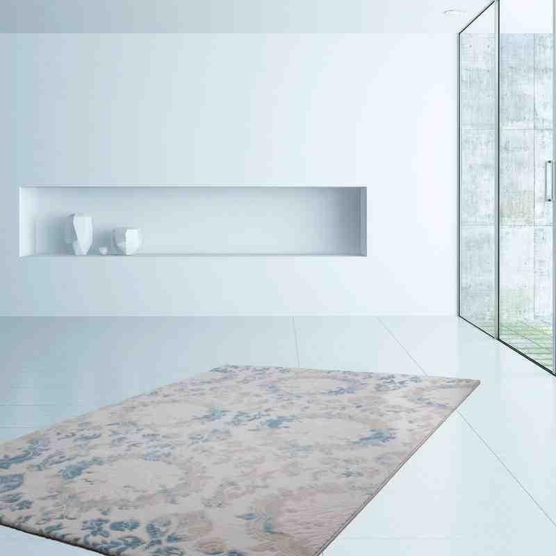tappeto moderno geometrico austria krems blu