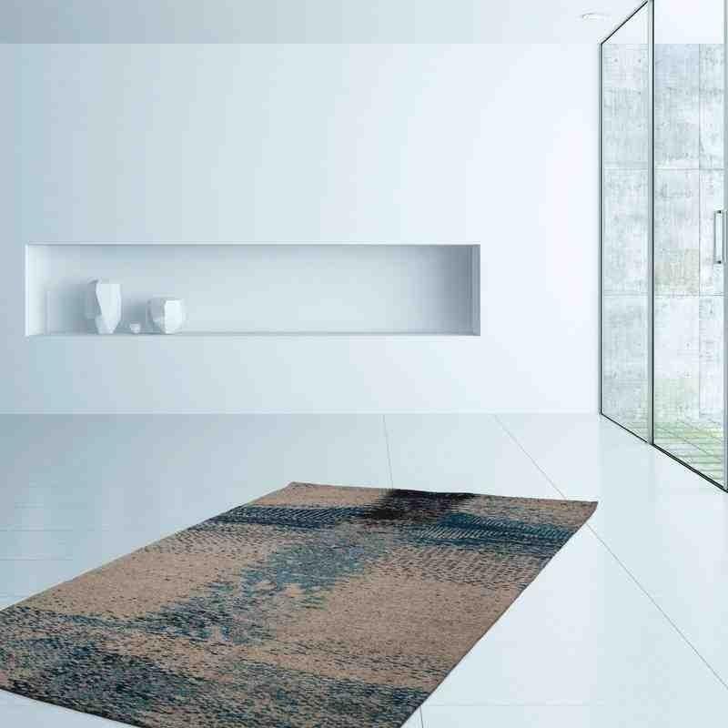 tappeto moderno fantasia ballerina 720 grigio-turchese