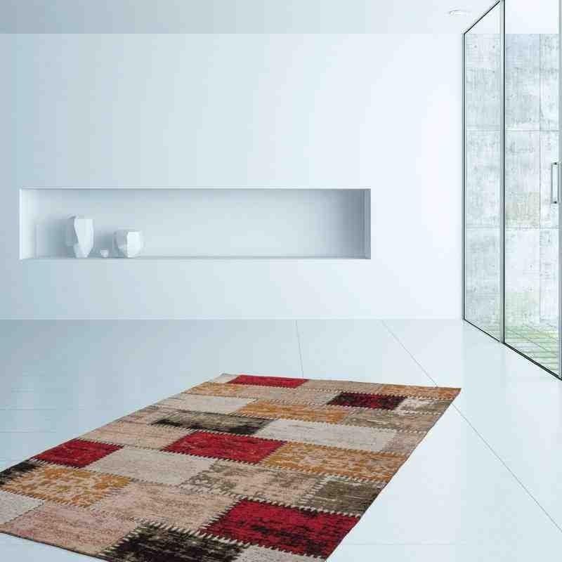 tappeto moderno fantasia ballerina 770 rosso-multi