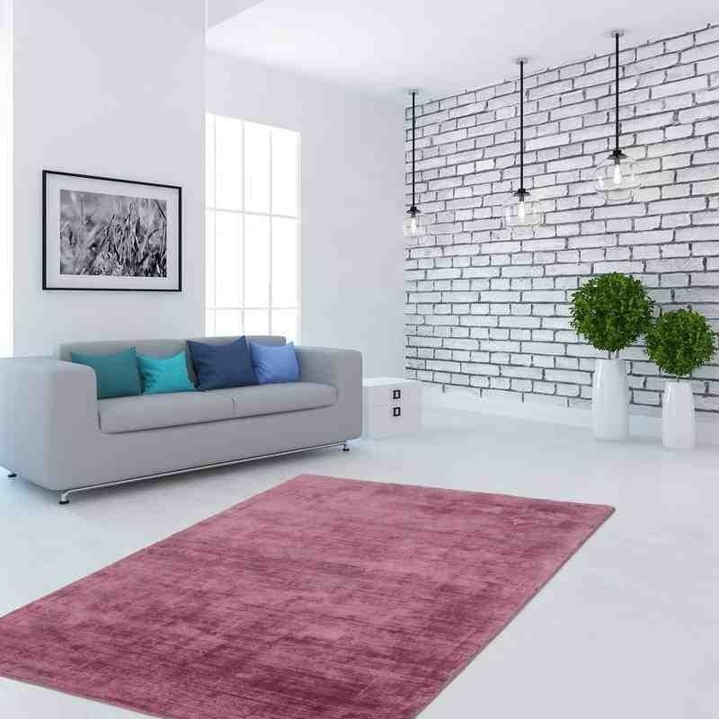 tappeto moderno tinta unita bangladesh dhaka powder rosa seta
