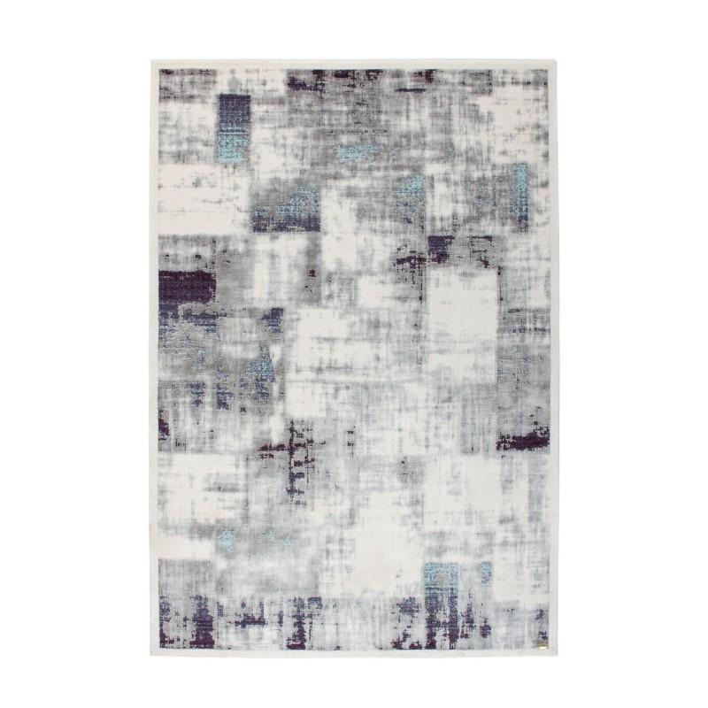 tappeto moderno Pierre Cardin Voila Exclusive 110 argento/viola