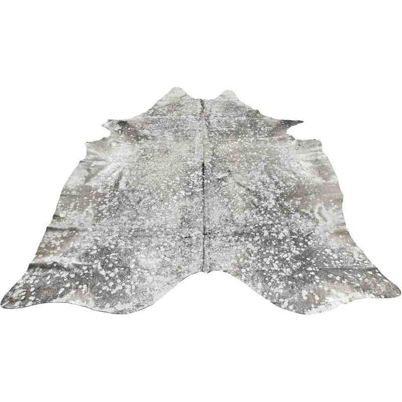 Tappeto Sitap Pelle Lurex Grey-Silver