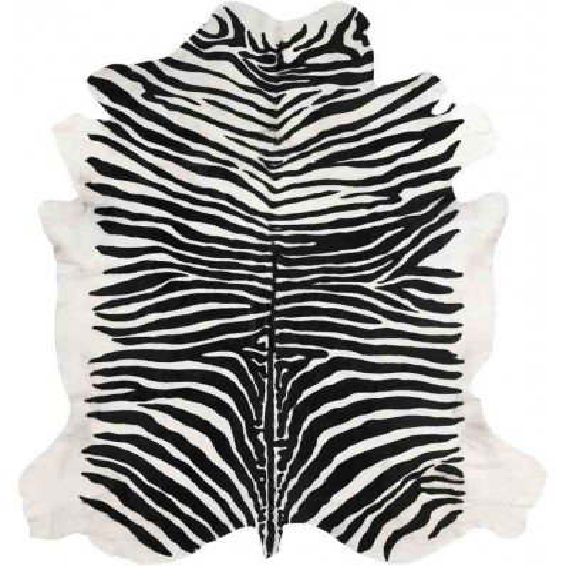 Tappeto Sitap Pelle Stampata Zebra
