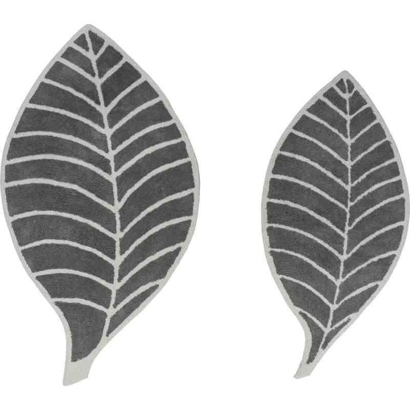 Tappeto Sitap Leaf Grey-Ivory