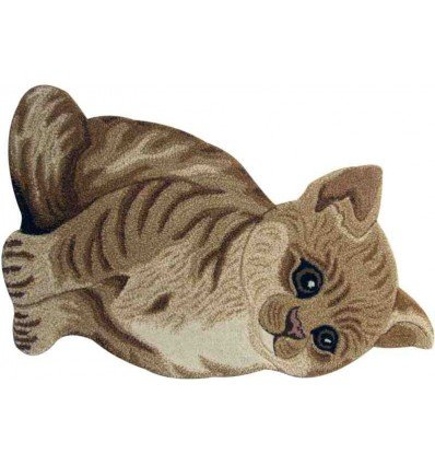 Tappeto Sitap Animals Cat Brown