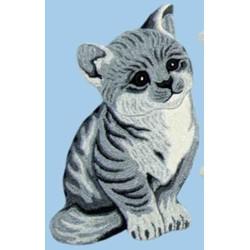 Tappeto Sitap Animals Cat Grey