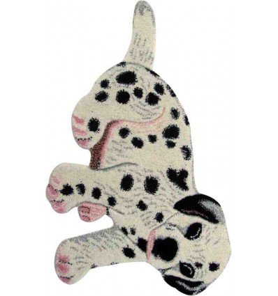 Tappeto Sitap Animals Dog Ivory-Black
