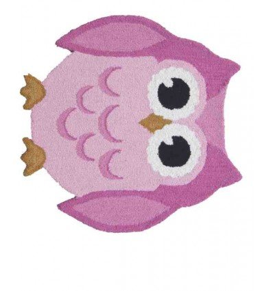 Tappeto Sitap Animals Owl Pink