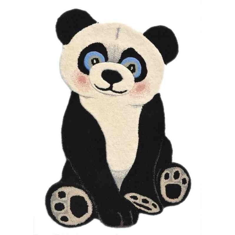 Tappeto Sitap Animals Panda Black-White