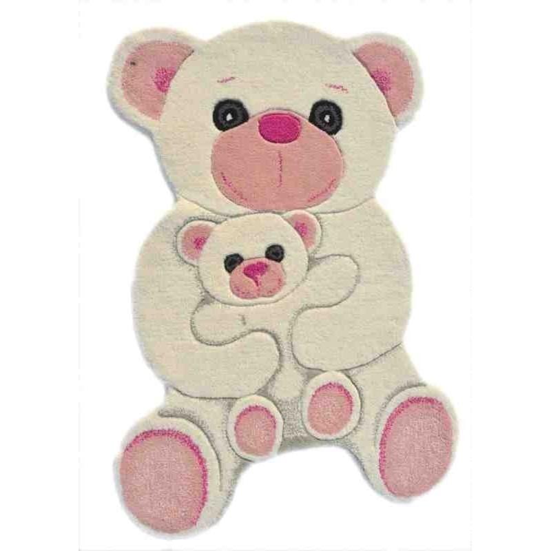 Tappeto Sitap Animals Polar Bear Ivory-Pink