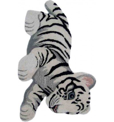 Tappeto Sitap Animals Tiger Toy White